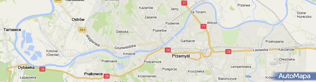 Zdjęcie satelitarne Zakład Szklarski