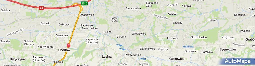Zdjęcie satelitarne Pracownia Tapicerska Stanisław Piąstka Tapicer Meblowy