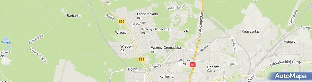 Zdjęcie satelitarne Zakład Tapicerski Kupiec Marian