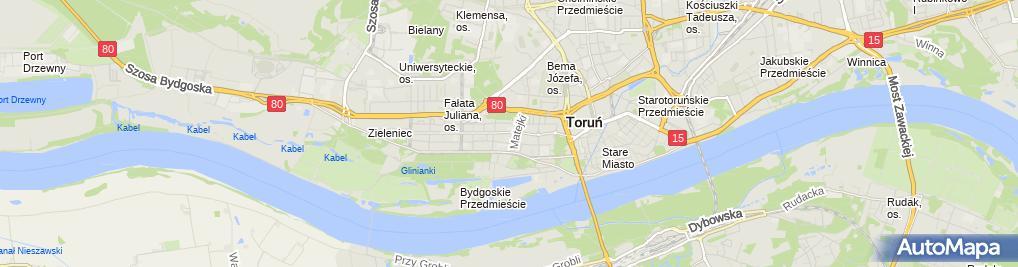 Zdjęcie satelitarne ZUS Oddział w Toruniu