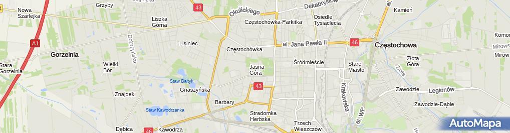 Zdjęcie satelitarne Klasztor Ojców Paulinów