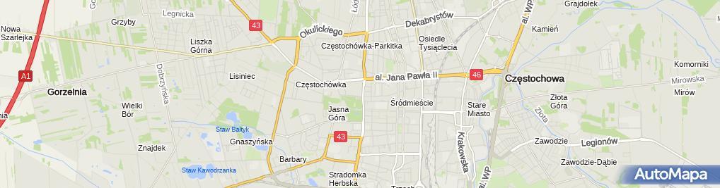 Zdjęcie satelitarne Urszulanki Unii Rzymskiej