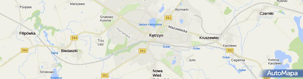 Zdjęcie satelitarne Zamek