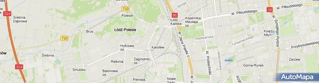 Zdjęcie satelitarne Administracja Karolew