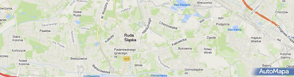Zdjęcie satelitarne Administracja MGSM Perspektywa