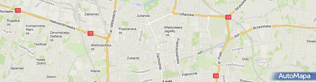 Zdjęcie satelitarne Inter Markt ; ABC Centrum