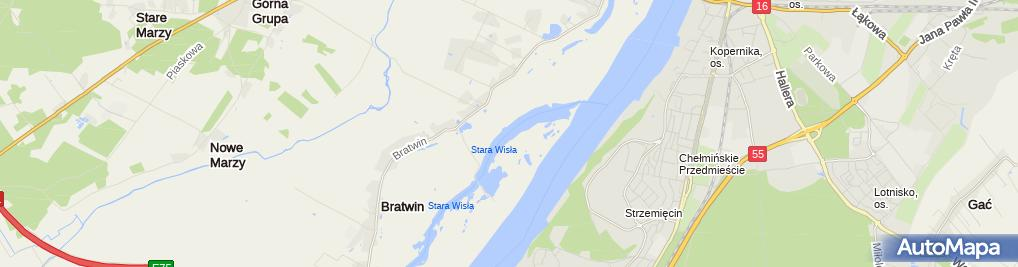 Zdjęcie satelitarne Stara Wisła