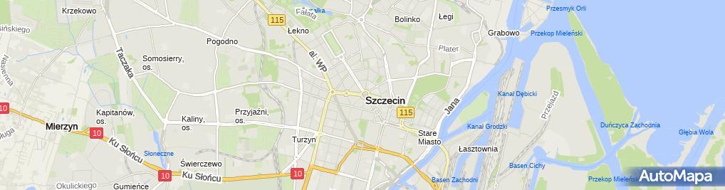 Zdjęcie satelitarne 0907 Plac Grunwaldzki Szczecin SZN