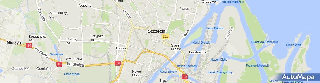 Zdjęcie satelitarne 0907 Tab XXV Harcerstwa Polskiego Pl Żołnierza Polskiego Szczecin SZN