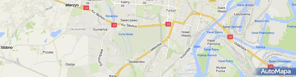 Zdjęcie satelitarne 1010 Cmentarz Centralny Szczecin SZN 0