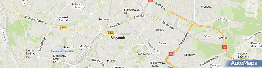 Zdjęcie satelitarne Aleja J Pilsudskiego 2