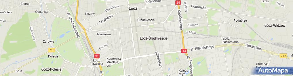 Zdjęcie satelitarne BPBK Łódź