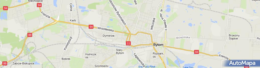 Zdjęcie satelitarne Bytom - Detal architektoniczny kamienicy - Twarz