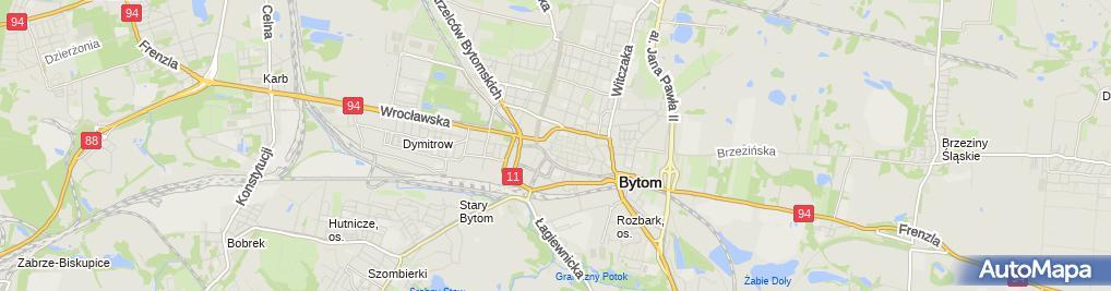 Zdjęcie satelitarne Bytom - Kamienica Jainty 12