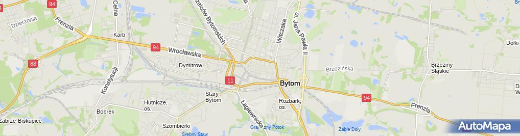 Zdjęcie satelitarne Bytom - Kamienica przy Rynku 03