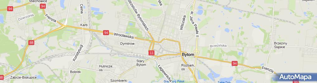 Zdjęcie satelitarne Bytom - Kościół pw. Świętej Trójcy 04