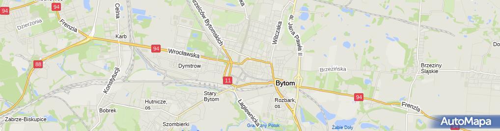 Zdjęcie satelitarne Bytom - Kościół Wniebowzięcia NMP - Ołtarz