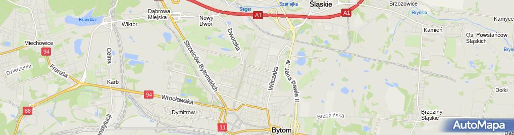 Zdjęcie satelitarne Bytom - Państwowe Szkoły Budownictwa