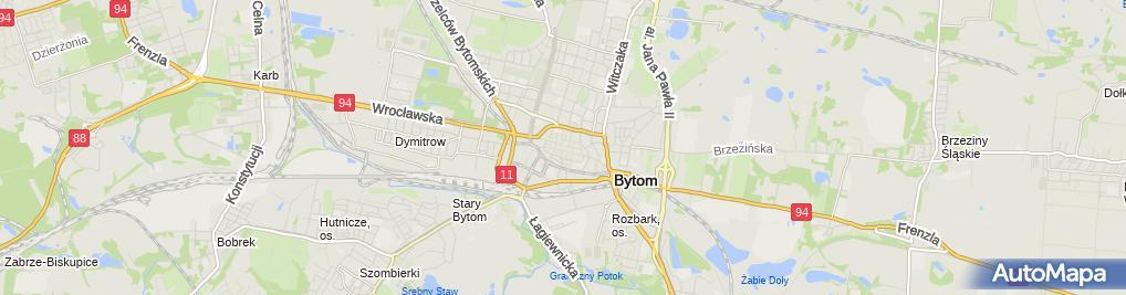 Zdjęcie satelitarne Bytom - Ratusz