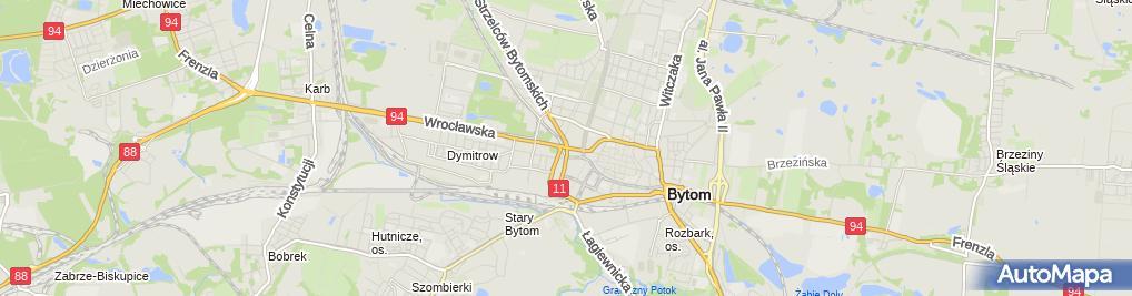 Zdjęcie satelitarne Bytom - Relikty murów 02