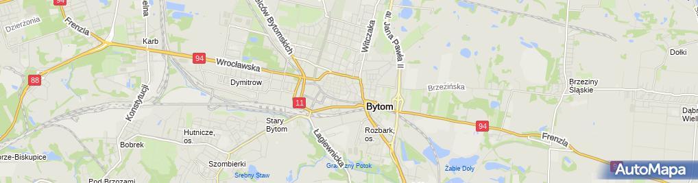 Zdjęcie satelitarne Bytom - Róg ul. Krakowskiej i ul. Korfantego 01