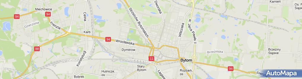 Zdjęcie satelitarne Bytom - Róg ul. Piłsudskiego i ul. Drzymały 01edit