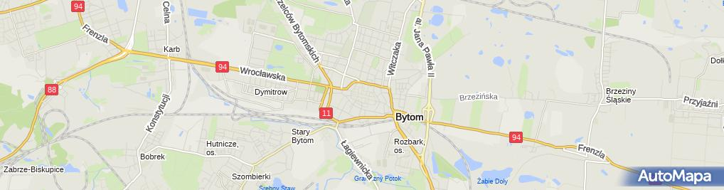 Zdjęcie satelitarne Bytom - Rynek 02