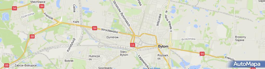 Zdjęcie satelitarne Bytom - Swimming pool 01