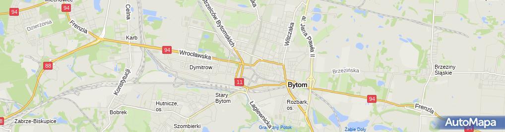 Zdjęcie satelitarne Bytom - Ul. Józefa Kwietniewskiego 01