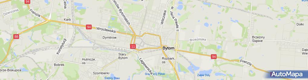 Zdjęcie satelitarne Bytom - Ul. Korfantego 01