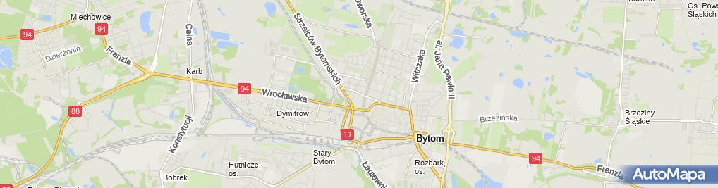 Zdjęcie satelitarne Bytom - Ul. Piłsudskiego 01