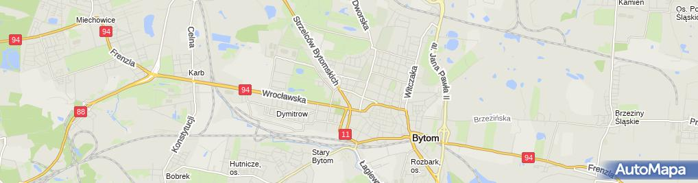 Zdjęcie satelitarne Bytom - Ul. Powstańców Warszawskich 01