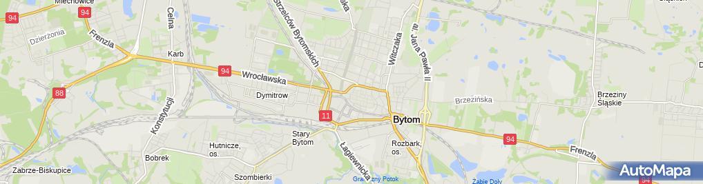 Zdjęcie satelitarne Bytom - Ul. Stanisława Webera 01