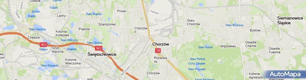 Zdjęcie satelitarne Chorzów - Bank Zachodni WBK 01