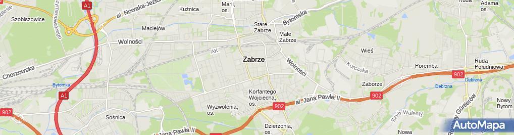 Zdjęcie satelitarne Cmentarz żydowski w Zabrzu15