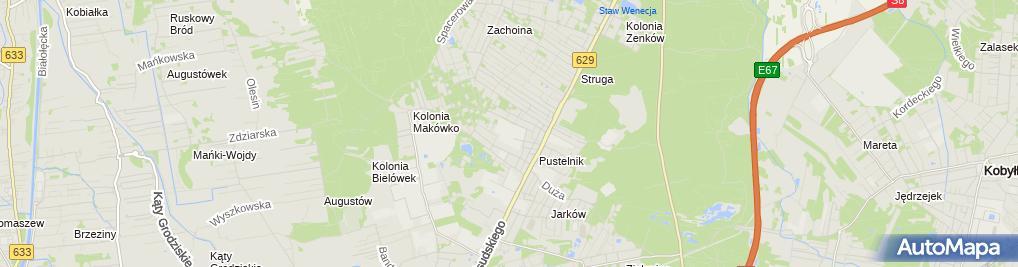 Zdjęcie satelitarne Czerwony Dwór Marki
