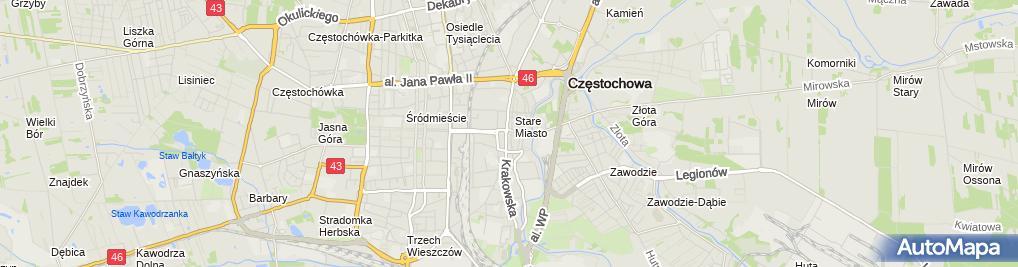 Zdjęcie satelitarne Czestochowa Kościół Św. Zygmunta 088