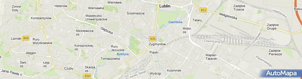 Zdjęcie satelitarne Daewoo-FSO Polonez Caro Plus of Policja in Lublin