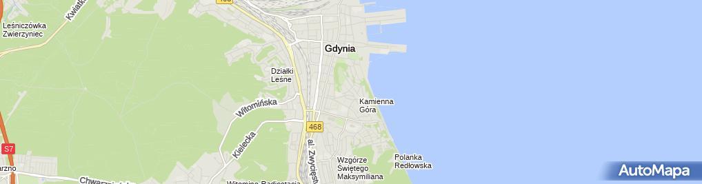 Zdjęcie satelitarne Gdynia port jachtowy