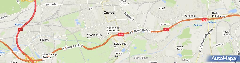 Zdjęcie satelitarne Hala Widowiskowo-Sportowa MOSiR Zabrze 2 (Nemo5576)