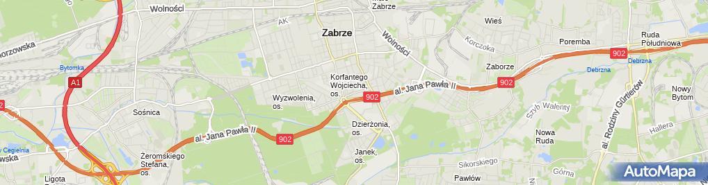 Zdjęcie satelitarne Hala Widowiskowo-Sportowa MOSiR Zabrze (Nemo5576)