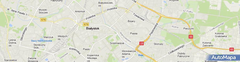 Zdjęcie satelitarne III Liceum Ogólnokształcące w Białymstoku 3