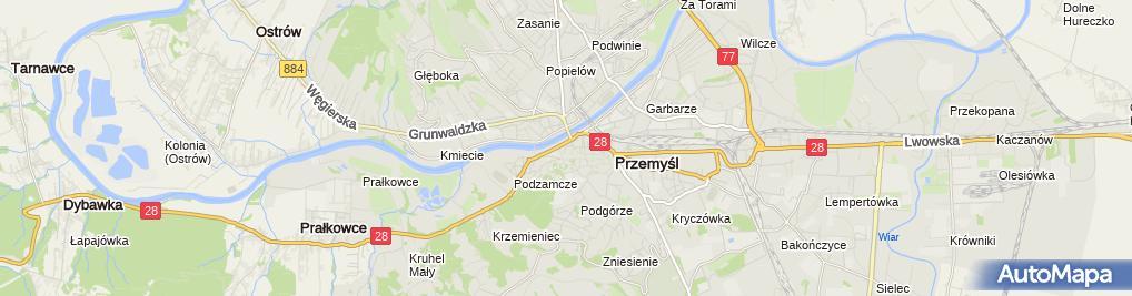 Zdjęcie satelitarne Kamienice na Grunwaldzkiej - Przemysl