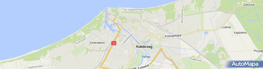 Zdjęcie satelitarne Kołobrzeg - cukiernia Gruszecki