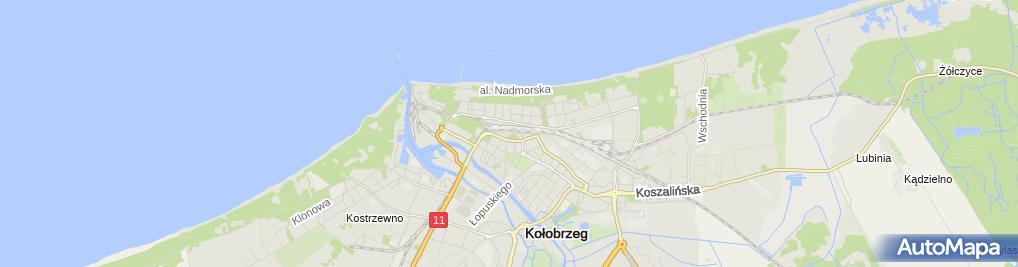 Zdjęcie satelitarne Kołobrzeg - dworzec kolejowy