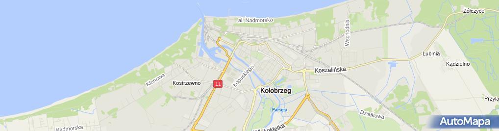 Zdjęcie satelitarne Kołobrzeg - Państwowa Szkoła Muzyczna I Stopnia