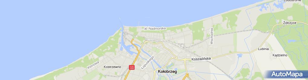 Zdjęcie satelitarne Kołobrzeg - peron 2
