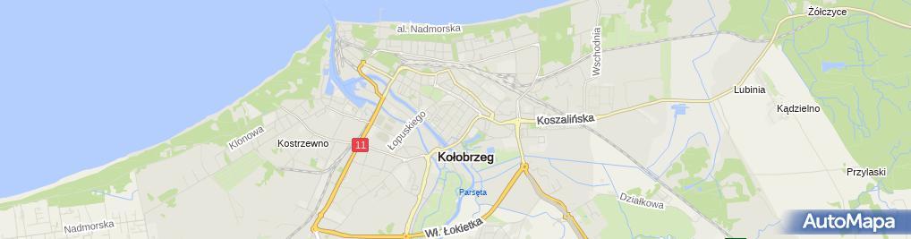 Zdjęcie satelitarne Kołobrzeg-ratusz05