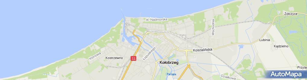 Zdjęcie satelitarne Kołobrzeg - skanpol