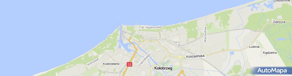 Zdjęcie satelitarne Kołobrzeg - SM42 642